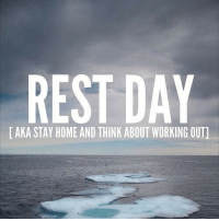 Rest Days: REST DAY  AKA STAY HOME AND THINK ABOUT WORKING OUT]