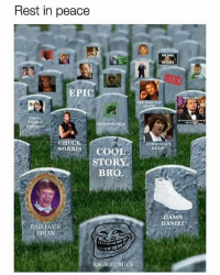 Bad, Memes, and Nostalgia: Rest in peace  ga  NOT PASS  EPIC  NOT  SIMPI  Overly  ILOSORAPTOR  Girl  CHUCK  CONSPIRACY  KEANU  HORITIS COOL  STORY  ORRISCOOL  BRO  DAMN  DANIEL O  BAD LUCK  BRIAN  RAGE COMICS Who else just experienced some major nostalgia?