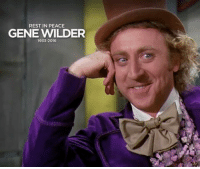 RIP GENE WILDER ( WILLY WONKA ) :(  Cr Wyrkhm Reddy: REST IN PEACE  GENE WILDER  1933-2016 RIP GENE WILDER ( WILLY WONKA ) :(  Cr Wyrkhm Reddy