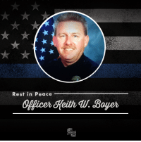 "Mondays, Police, and Prison: Rest in Peace  Officer Keith Boyer Police Officer Keith W. Boyer was killed in the line of duty in Whittier, California on Monday when he was shot by a gang member who was out of prison on parole due to California's early release policy.  Boyer joined the police force in 1989 and was described by his police chief as ""the best of the best."" Rest in peace, Officer Boyer."