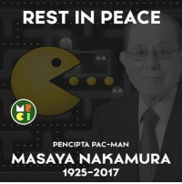 RIP Via MRCI: REST IN PEACE  PENCIPTA PAC-MAN  MASAYA NAKAMURA  1925-2017 RIP Via MRCI
