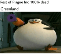 Anaconda, Greenland, and Yes: Rest of Plague Inc: 100% dead  Greenland: Yes it do