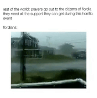 Florida Man, Memes, and Florida: rest of the world: prayers go out to the citizens of flordia  they need all the support they can get during this horrific  event  flordians: Florida man at it again 😭 @genuine.gerald