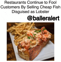 """Restaurants Continue to Fool Customers By Selling Cheap Fish Disguised as Lobster-blogged by @thereal__bee ⠀⠀⠀⠀⠀⠀⠀⠀⠀ ⠀⠀⠀⠀⠀⠀⠀⠀⠀ A report from InsideEdition has revealed that many restaurants are ripping customers off by serving them cheap imitation lobster instead of the real thing. The report found that more than 1-3 of the restaurants they examined across the country served cheap seafood disguised as lobster. ⠀⠀⠀⠀⠀⠀⠀⠀⠀ ⠀⠀⠀⠀⠀⠀⠀⠀⠀ For the test, InsideEdition examined 28 different restaurants, from RedLobster all the way to mom-and-pop restaurants. The team ordered lobster dishes from each restaurant and sent the meat to a lab for DNA testing. ⠀⠀⠀⠀⠀⠀⠀⠀⠀ ⠀⠀⠀⠀⠀⠀⠀⠀⠀ From testing lobster samples from three different Red Lobster locations, the results determined that one sample featured just langostino—a """"less expensive seafood more closely related to a hermit crab than lobster""""—while the remaining samples were a mix of lobster and langostino. A spokesperson for RedLobster admitted that the food was not 100% lobster, claiming that the langostino used was due to the """"seasonality and availability"""" of lobster. The spokesperson also mentioned that the bisque dish can often contain Maine lobster, or langostino, or both. ⠀⠀⠀⠀⠀⠀⠀⠀⠀ ⠀⠀⠀⠀⠀⠀⠀⠀⠀ Unfortunately this is not the 1st time restaurants have been called out for being too frugal. Last year, 9 sushi restaurants in California were called out for selling lobster rolls that didn't include any actual lobster. Instead, they used cheap fish like crawfish and pollock to fool customers.: Restaurants Continue to Fool  Customers By Selling Cheap Fish  Disguised as Lobster  @balleralert Restaurants Continue to Fool Customers By Selling Cheap Fish Disguised as Lobster-blogged by @thereal__bee ⠀⠀⠀⠀⠀⠀⠀⠀⠀ ⠀⠀⠀⠀⠀⠀⠀⠀⠀ A report from InsideEdition has revealed that many restaurants are ripping customers off by serving them cheap imitation lobster instead of the real thing. The report found that more than 1-3 of the restaurants they examined acros"""