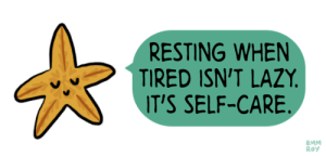 hplyrikz:  Clear your mind here: RESTING WHEN  TIRED ISN'T LAZY  T'S SELF-CARE  EMM  Roy hplyrikz:  Clear your mind here