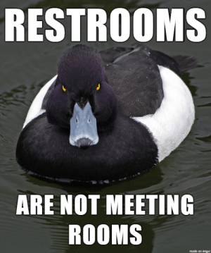 Shit, Imgur, and Peace: RESTROOMS  ARE NOT MEETING  ROOMS  1  made on imgur C'mon guys, I just want to take a shit in peace