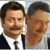 Retired cop in my town looks like Nick Offerman (Ron Swanson): Retired cop in my town looks like Nick Offerman (Ron Swanson)