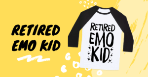 Emo, Music, and Black: RETIREDRETIRED  EMO  EMO IDKID Smells like teen spirit! Actually, you had none of that. You were boring, sleepy, emotional, only wore black, listened to music that scared your mother and probably hid a few piercings from her too. These products will take you back to the good ole days of being the sad boy.