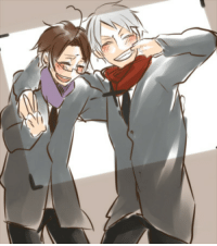 Love, Target, and Tumblr: retroelf:  purplepantsandpradaglasses:  pianokeysandmusicnotes:  You and me, Me and you, I thought we'll always be so happy together ((work was deleted))  Still my favorite PruAus art because Roderich just looks so happy  and they're so at ease with each other and just fooling around and it's that side of them that makes me love PruAus  even if it so rarely comes out. Only they can make each other smile like that and just let their guards down.  ^^^^