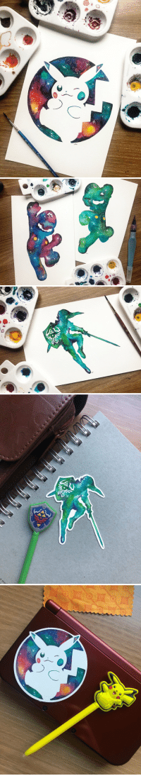 Nintendo, Target, and Tumblr: retrogamingblog:  Nintendo Watercolor Stickers made by thepaintboxletters