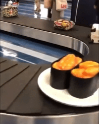 9gag, Memes, and Home: Returning home from a Japan trip like - sushi baggagecarousel 9gag