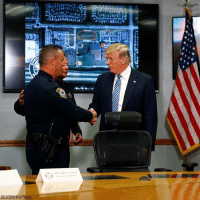Friday, Memes, and Police: REUTERS/Eric Thayer President @realdonaldtrump shook hands with Officer Michael Leonard of the Coconut Creek Police Department Friday. Officer Leonard arrested the suspect of the high school shooting in Florida on Wednesday.