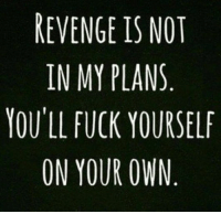 Funny, Love, and Revenge: REVENGE IS NOT  IN MY PLANS  YOU'LL FUCK YOURSELF  ON YOUR OWN 70 Funny Inspirational Quotes Youre Going To Love For Women 20