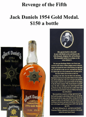 "May 5th ""Revenge of the Fifth"" : Do you StarWars much? MEME Wars ...: Revenge of the Fifth  Jack Daniels 1954 Gold Medal  $150 a bottle  