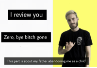 Bye Bitch: review vou  Zero, bye bitch gone  CLIA  This part is about my father abandoning me as a child