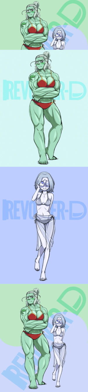 revolver-d:  And suddenly, Jade and Moonstone in bikini.: REW   REVO RD revolver-d:  And suddenly, Jade and Moonstone in bikini.