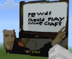 Cool, Mine Craft, and Mine: rewis  houl FlY  MinE CRAFT Here I gave up on this but you get the gist.. minecrafts cool again