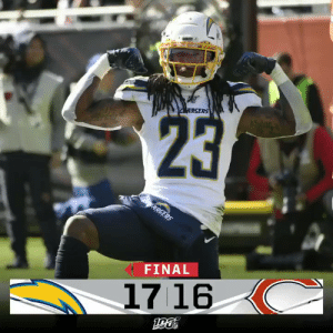 FINAL: The @Chargers hang on for the victory in Chicago! #LACvsCHI https://t.co/kfapLosDIl: RGERS  23  ARGERS  FINAL  1716 FINAL: The @Chargers hang on for the victory in Chicago! #LACvsCHI https://t.co/kfapLosDIl