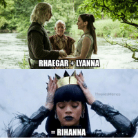 Rihanna is the one true heir to the Iron Throne confirmed! https://t.co/0syEiyOnF2: RHAEGARYANNA  ThronesMemes  RIHANNA Rihanna is the one true heir to the Iron Throne confirmed! https://t.co/0syEiyOnF2