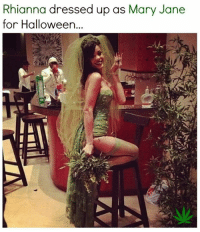 Halloween, Memes, and Dress: Rhianna dressed up as Mary Jane  for Halloween...