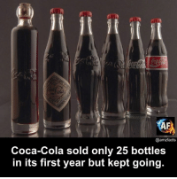 Coca-Cola, Memes, and 🤖: ri  @amzfacts  Coca-Cola sold only 25 bottles  in its first year but kept going.