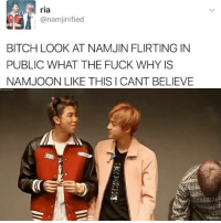 Kissue . . . . . . Credit to owner✌: ria  Canamjinified  BITCH LOOK AT NAMJIN FLIRTING IN  PUBLIC WHAT THE FUCK WHY IS  NAMJOON LIKE THIS CANT BELIEVE Kissue . . . . . . Credit to owner✌