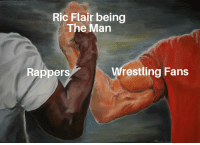 Paying Homage to The Man: Ric Flair being  The Man  Rappers  restling Fans Paying Homage to The Man