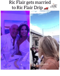 Friends, Memes, and Ric Flair: Ric Flair gets married  to Ric Flair Drip  toniolucas8123  avitorunner 79 but did he pull up with the ceiling missing⁉️🧐 Follow @bars for more ➡️ DM 5 FRIENDS