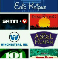 Disney, Memes, and Movie: Ric NRIPKE  DEMON KING  SAMM. Y  THE  WINCHESTERS, INC  HUMAN  1001 ; what's your favorite disney movie?? 👾