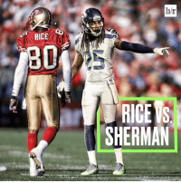 """""""I'd like to think I could hold my own with Jerry,"""" Richard Sherman in @playerstribune: RICE  hr  RICE S  SHERMAN """"I'd like to think I could hold my own with Jerry,"""" Richard Sherman in @playerstribune"""