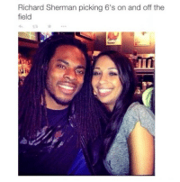 Richard Meme: Richard Sherman picking 6's on and off the  field