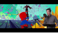 Spider, Tumblr, and Blog: richardhblakes:  currently losing it over this b-roll footage of john mulaney recording for into the spider-verse