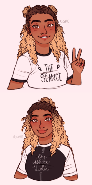 Love, Tumblr, and Blog: RICHIE  THE  SEANCE   RICHIE  Whike  Viiliny richiedraws:  supportive sister!!! i love her and u Know she loves her terrible siblings