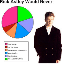 :D -Palmz: Rick Astley Would Never  Give You Up  Let You Down  Run Around and Desert You  Make You Cry  Say Goodbye  Tell a Lie and Hurt You :D -Palmz