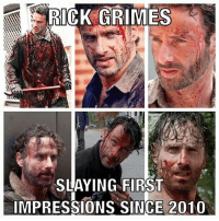 slaythembitches thewalkingdead: RICK GRIMES  SLAYING FIRST  IMPRESSIONS SINCE 2010 slaythembitches thewalkingdead