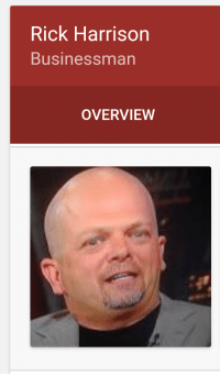When you're a businessman but never know what is going to come through the door: Rick Harrison  Businessman  OVERVIEW When you're a businessman but never know what is going to come through the door