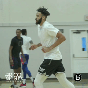 JaVale McGee during NBA pick up games is just unfair lol. @RicoHinesBball https://t.co/P1S5SjFCe7: RICO  HINES  BASKETBALL  (r JaVale McGee during NBA pick up games is just unfair lol. @RicoHinesBball https://t.co/P1S5SjFCe7