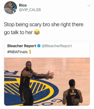 tfw youre two seconds away from murdering your friend by MGLLN FOLLOW HERE 4 MORE MEMES.: Rico  @VIP CALEB  Stop being scary bro she right there  go talk to her  Bleacher Report  #NBAFinals 3  @BleacherReport  SMITH tfw youre two seconds away from murdering your friend by MGLLN FOLLOW HERE 4 MORE MEMES.