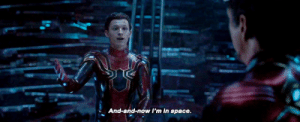 peterpdaily:#the three stages of peter parker: Rie  And-and-now I'm in space peterpdaily:#the three stages of peter parker