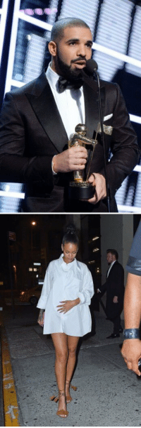 Rih slept over at Drake's hotel on Sunday and went to Nobu on Monday wearing his VMAs shirt as a dress. Goals: rif   周團 Rih slept over at Drake's hotel on Sunday and went to Nobu on Monday wearing his VMAs shirt as a dress. Goals