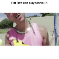 Funny, Riff Raff, and Wtf: Riff Raff can play tennis Wtf clip of the day 😂 HoodClips