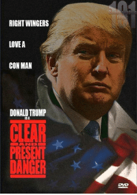 Describe Donald Trump with a movie title!  H/t Conservative Logic 101: RIGHT WINGERS  LOVEA  CON MAN  DONALD TRUMP  ISA  PRESENT  DANGER Describe Donald Trump with a movie title!  H/t Conservative Logic 101