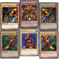"Found the missing piece!!!: RIGHTARN OF THE FORBIDDENONE  SPELLCASTER  arm sealed by magic Whosoever  ATKT 200 DEF/ 300  RIGHT LEG OF THE FORBIDDEN ONE  SPEL CASTER  ATK/ 200 DI  EXODIA THE FORBIDDEN ONE A  SPELL CASTER/EFFECT]  When you Right Les ofthe Forbidden Onr  One"" and ""Left Aimofthe Forbidden One' inaddolonto  his in your hand you win the Duel  ATK /1000 DEFI000  LITTLE D  DINOSAUR  ATN 1100 DEF  LEFT ARM OF THE FORBIDDEN ONE  SPELL CASTER  magic. Who woever  Brraks this  200 DEF/ 300  LEFT LEG OF THE FORBIDDEN ONE  SPELL CASTER  infinite power  ATN/ 200 DEF/ 300 Found the missing piece!!!"