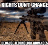 RIGHTS DONT CHANGE  BECAUSETECHNOLOGY ADVANCES Thanks to the Libertarian Party of Florida for this post! To get involved locally, go to lp.org/states!