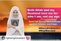 muhammadgate !! @Regrann from @mrconraducitel - This post was reposted using @the.instasave.app theinstasaveapp ・・・ - regrann: rightwingmovement  Both Allah and my  Husband love me for  who I am, not my age.  Don't let Trump discriminate  against Islamic marriage.  #ShariaFor America  #WhylMarched  ENENT PAID FOR BY NUSLIMAMERICANSOCIETY OFD(AND HILLARY FOR ANERICA muhammadgate !! @Regrann from @mrconraducitel - This post was reposted using @the.instasave.app theinstasaveapp ・・・ - regrann