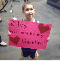 We see you, little man. (via J.A. Adande-Twitter): Riley  will you be my  Valentine? We see you, little man. (via J.A. Adande-Twitter)