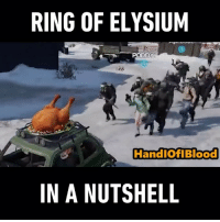 Memes, Link, and 🤖: RING OF ELYSIUM  PODDY  HandiOfiBlood  IN A NUTSHELL Tag a friend to start a battle with! Download @ringofelysium_tencent now, link in bio! RingofElysium