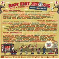 "System Of A Down​ is headlining @RiotFest in Chicago on 9-12. Single day tickets on sale now: http:-goo.gl-UACuxQ systemofadown: RIOT FEST  AND CARNIVAL  n Scenic  DOUGLAS PARK  BCHICAGO  ILLINOIS  11-13  01  RIOTFEST.ORG  の TICKETFLY.COM  OR  FRIDAY, SEPTEMBER 11  NO DOUBT FAITH NO MORE MOTÖRHEAD ICE CUBE&SPECIAL GUESTSSRUTTACOMPTON RX ALKALINE TRIO  COHEED ANDCAMBRIA FLOGGING MOLLY SLIGHTLY STOOPID THRICE DIRTY HEADS ANTHRAX  EAGLES OF DEATH METAL AGAINST ME! BAYSIDE MEST ATREYU LEE SCRATCH PERRY THE EXPENDABLES  LIVING COLOUR FISHBONE DEATH MARIACHIEL BRONX CIV EVERY TIME I DIE REAL FRIENDS 88 FINGERS LOUIE  MUSTARD PLUG INTO IT. OVER IT. POST MALONE WITH FKI CHEFSPECIAL MARMOZETS BARB WIRE DOLLS  THE COATHANGERS PRAYERS SPEEDY ORTIZ WHITE MYSTERY MAIN ATTRAKIONZ GROUND UP SKINNY LISTER  ALEX WILEY HEEMS PSALM ONE DREAMERS FAULKNER HELLZAPOPPIN CIRCUS SIDESHOW REVUE  SATURDAY, SEPTEMBER 12  SYSTEM OF A DOWN IGGY POP RANCID PERFORMING AND OUT COME THE WOLVES BILLY IDOL TAKING BACK SUNDAY  OST HERE  THE LAWRENCE ARMS ECHO & THE BUNNYMEN BOOTSY COLLINS RUBBER BAND THE DAMNED PENNYWISE  THE DEVIL WEARS PRADA MAYDAY PARADE BABES IN TOYLAND DESAPARECIDOS THE JOY FORMIDABLE  THE DEAD MILKMEN FIDLAR MILLENCOLIN AMERICAN NIGHTMARE SWERVEDRIVER GWAR LIFETIME JOYCE MANOR  RODRIGO Y GABRIELA  DRIVE LIKE JEHU  MERLE HAGGARD  ALEXISONFIRE  THE ACADEMY IS... PERFORMI  THE MOVIELIFE STEVE IGNORANT AND PARANOID VISIONS THE DEAR HUNTER THE ATARIS  RATRE2x  MODERN LIFE IS WAR PERFORMING WITNESS FIT FOR RIVALS FLATFOOT 56 TEENAGE BOTTLEROCKET CHON COUNTERPUNCH  DIRECT HIT! DIRTY FENCES SLEEP ON IT THE BROKEDOWNS MEAT WAVE ELWAY INDIAN HANDCRAFTS PEARS  GATEWAY DRUGS CLOWNS DIE SELLOUTZ THE ROCK-AFIRE EXPLOSION HELLZAPOPPIN CIRCUS SIDESHOW REVUE  SUNDAY, SEPTEMBER 13  MODEST MOUSE THE PRODIGY SNOOP DOGG PERFORMING DOGCYSTYLu DAMIAN ""JR. GONG"" MARLEY TENACIOUS D  L7 STEPHEN ""RAGGA"" MARLEY KONGOS CYPRESS HILL YELAWOLF THE AIRBORNE TOXIC EVENT  MANCHESTER ORCHESTRA DE LA SOUL ANDREW MCMAHON IN THE WILDERNESS NEW POLITICS JIMMY CLIFF  NDREW W.K. LESS THAN JAKE THE THURSTON MOORE BAND MORGAN HERITAGE DOOMTREE HUM TARRUS RILEY  THE DWARVES0 CUTS& PUSSY TOMMY STINSON KEVIN DEVINE JO MERSA ALVVAYS THE WHITE BUFFALO BLACK-AM-  SKIP MARLEY KNUCKLE PUCK JAZZ CARTIER HAVE MERCY SUPERHEAVEN FOXING BEACH SLANG CAYETANA BLIS  NORTHERN  TWIN RIVER INDIANSCHOOL THEMUNICIPAL DRAINAGE PROJECT HELLZAPOPPIN CIRCUS SIDESHOW REVUE  ES SOUVENIRS SKATING POLLY SIGNALS MIDWEST MODERN CHEMISTRY TASHA THE AMAZON FOXTROTT  SINGLE &  MULTI-DAY  TICKETS  RIOT FEST 2  NOW  AVAILABLE!  10!  en, 'ennent-V rdia 9傘ー1REx-cound  lyR-a., @READER ie moRT田  SIONGBOW REX-GOLIATH  Autrst System Of A Down​ is headlining @RiotFest in Chicago on 9-12. Single day tickets on sale now: http:-goo.gl-UACuxQ systemofadown"