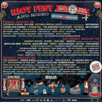 System Of A Down is headlining @riot_fest in Denver on 8-28. Single day tickets on sale now at riotfest.org-denver-tickets systemofadown riotfest: RIOT FEST  DENVER,/  COLORADO  COMPLEX  RIOTFEST.ORG OR TICKETFLY.CO  AND RODEO  FRIDAY AUGUST 28  SYSTEM OF A DOWN IGGY POP ICE CUBE&SPECIAL GUESTSPESPORMINC STRANCHT OUTTA COMPTORMX MOTÖRHEAD  COHEED AND CAMBRIA CYPRESS HILL THE AIRBORNE TOXICEVENT ANTHRAX DEATH GRIPS  TESTAMENT GWAR THE BLACK LIPS AMERICAN NIGHTMARE THE GET UP KIDS DOOMTREE  88 FINGERS LOUIE BENJAMIN BOOKER CHEF'SPECIAL SPEEDY ORTIZ CAYETANA  PRAYERS THE HOTELIER DREAMERS MAIN ATTRAKIONZ INPUT &BROKEN  INDIAN SCHOOL THE ROCK-AFIRE EXPLOSION HELLZAPOPPIN CIRCUS SIDESHOW REVUE  SATURDAY. AUCUST 29  MODEST MOUS PIXIES RUN DMC RANCID PERFORMING. AND OUTCOME THE wOLVES  DRIVE LIKE JEHU KONGOS ALKALINE TRIO THRICE COLD WAR KIDS IRATION THE DAMNED  EAGLES OF DEATH METAL THE MIGHTY MIGHTY BOSSTONES DESAPARECIDOS  THE DEAD MILKMEN THE VANDALS LESS THAN JAKE THE JOY FORMIDABLE CLOUD CULT  BAYSIDE SWERVEDRIVER JOYCE MANOR THE BUNNY GANG FIT FOR RIVALS DIRECT HIT!  BROADWAY CALLS NORTHERN FACES MEAT WAVE GATEWAY DRUGS SOUVENIRS  PEARS SLEEP ON IT THE ROCK-AFIRE EXPLOSION-HELLZAPOPPIN CIRCUS SIDESHOW REVUE  SUNDAY, AUGUST 30  THE PRODIGY SNOOP DOGG PERFORMING DOGGYSTYLE TENACIOUS D FLOGGING MOLLY  L7 EXPLOSIONS IN THE SKY BOOTSY COLLINS, RUBBER BAND YELAWOLF  BABES IN TOYLAND GZA PERFORMING LIQUID SWORDS DE LA SOUL THE LAWRENCE ARMS  NADA SURF REVEREND HORTON HEAT ANDREW:W.K. MILLENCOLIN,乙SECONDS OFF!  THE WHITE BUFFALO POST MALONE WITH FKL AZZ CARTIER TEENAGE BOTTLEROCKET PUP  BEACH SLANG THE MOTH & THE FLAME ELWAY WHITE MYSTERY SKATING POLLY ROZWELL KID  FAULKNER DAYE JACK THE ROCK-AFIRE EXPLOSION HELLZAPOPPIN CIRCUS SIDESHOW REVUE  SODA JERK  PRESENTS  oa UBER  Westword System Of A Down is headlining @riot_fest in Denver on 8-28. Single day tickets on sale now at riotfest.org-denver-tickets systemofadown riotfest