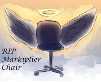 Lol, Tumblr, and Blog: RIP  Charcipfier  Chair sirlsplayland:  Rest in Peace Markiplier chair, lol. from his destory my channel challenge live stream